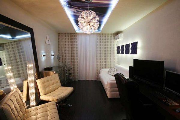 освещение в гостиной после ремонта