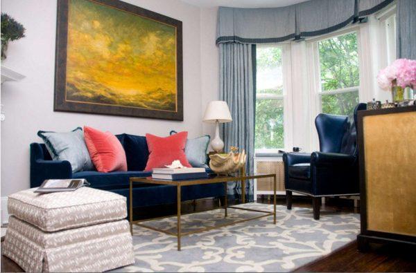 стильные шторы в интерьере гостиной