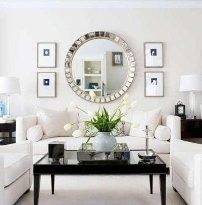 зеркало в гостиной в скандинавском стиле
