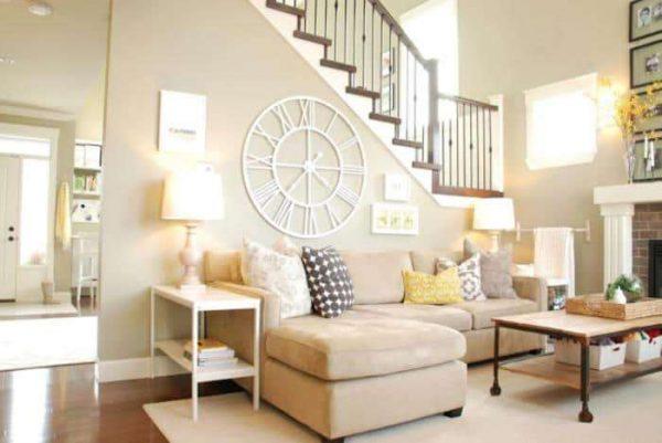 комбинирование пастельных цветов в гостиной
