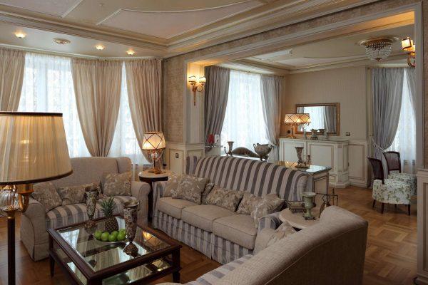 мебель в гостиной в стиле современной классики