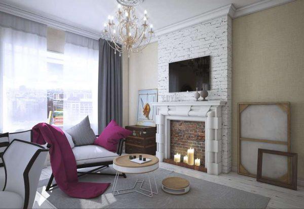 роскошный декор в гостиной в стиле современной классики
