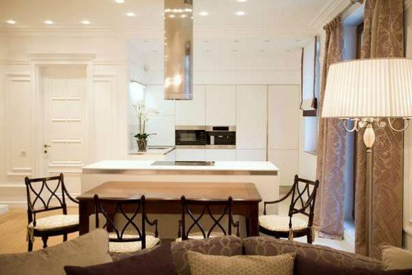 гостиная в стиле современной классики
