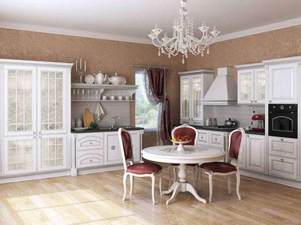белый и розовый в гостиной в современной классике