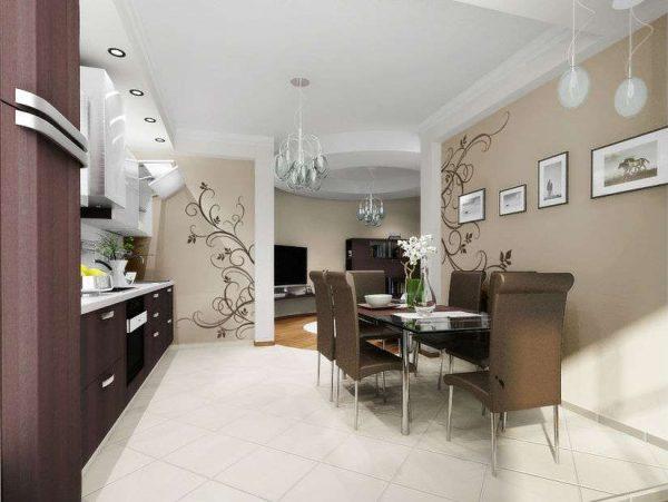 лаконичный интерьер гостиной в современной классике