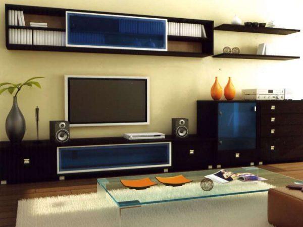 современные стенки горки в гостиную в разных стилях фото в интерьере