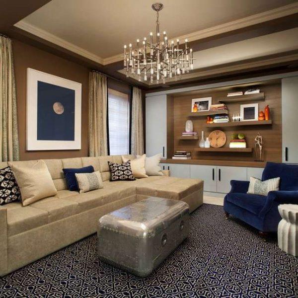 стенка мебельная для гостиной с открытыми полками
