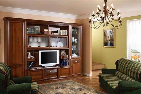классическая стенка мебельная для гостиной