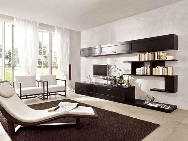 стенка мебельная для гостиной в стиле минимализм