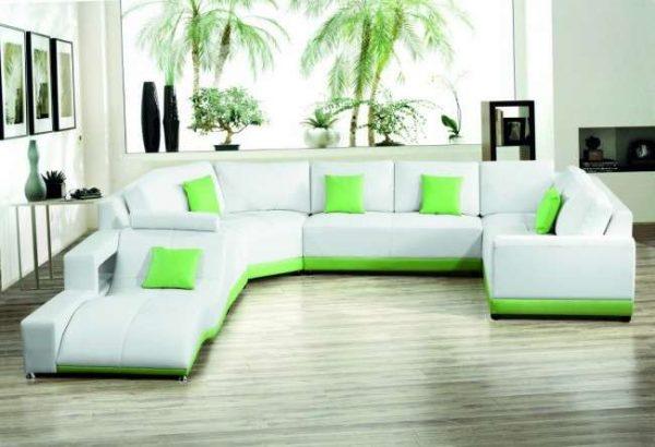 П-образный угловой диван для гостиной