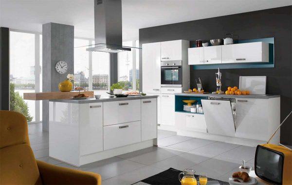 Кухни с глянцевыми фасадами на 20 кв. метрах