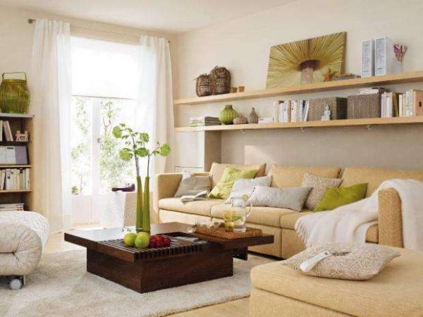 угловой диван в интерьере кухни-гостиной 20 кв.м.