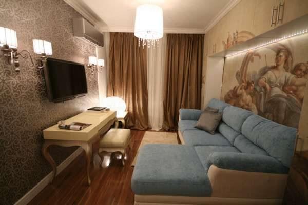 классика в интерьере небольшой гостиной