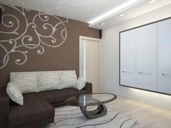 декор стены в интерьере небольшой гостиной