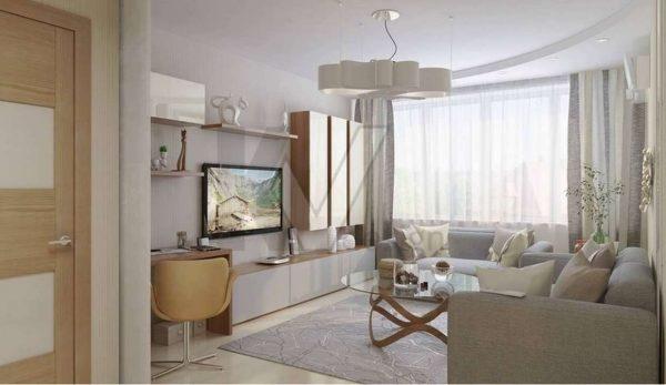 Дизайн небольшой современной гостиной