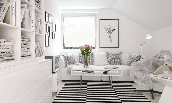 белая мебель в интерьере в стиле хай тек