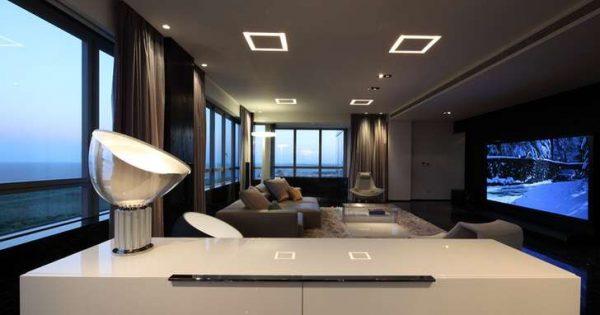 мебель в гостиной хай тек