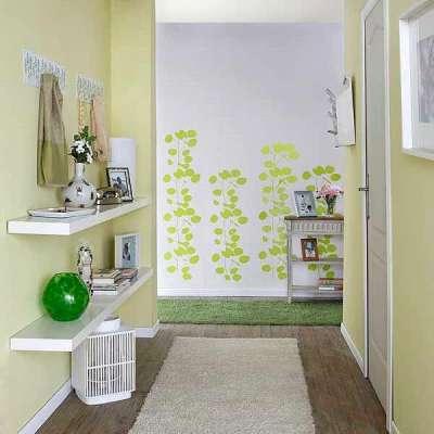 светлые стены в коридоре однокомнатной квартире