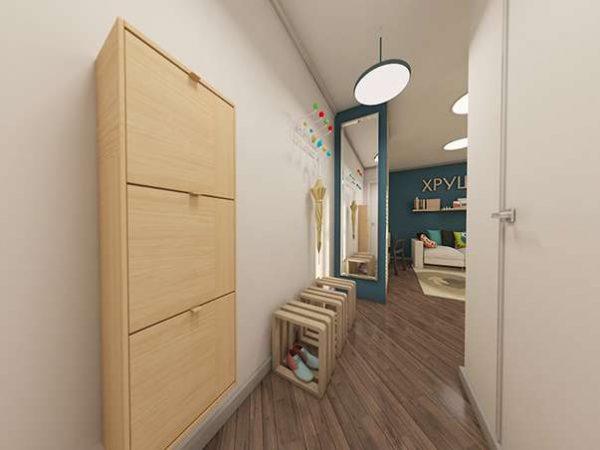 узкий коридор в однокомнатной квартире