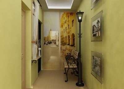 узкий коридор в прихожей