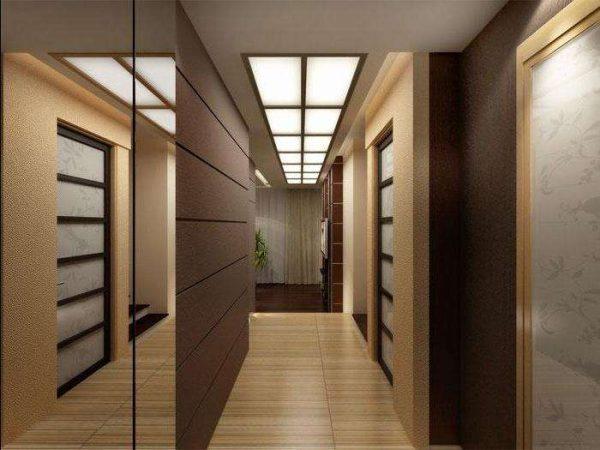 шкаф с раздвижными дверями в коридоре