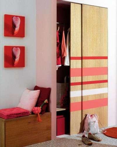 розовый в интерьере коридора