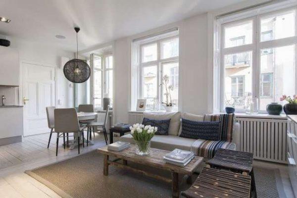 серая мебель для гостиной в современном стиле