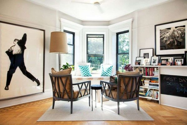 мебель в современной гостиной фьюжн