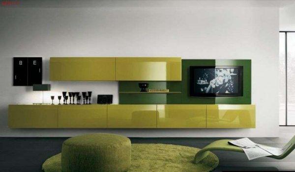 мебельная стенка под телевизор в гостиной