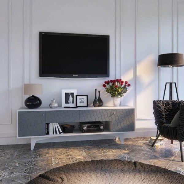 мебель под телевизором в гостиной