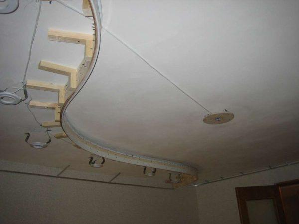 натяжной потолок - подготовка