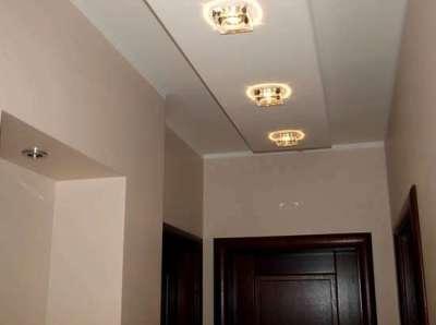 многоуровневый потолок с побелкой