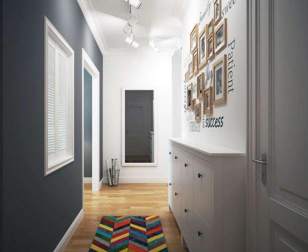 освещение потолка из гипсокартона в коридоре