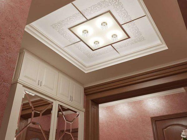 светящийся потолок в прихожей