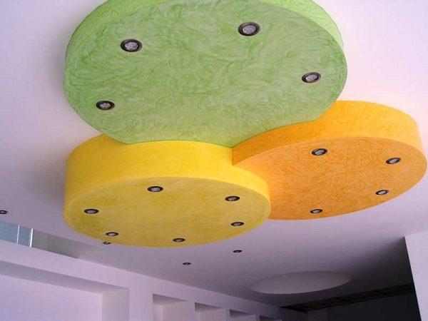 гипсокартонная конструкция в прихожей на потолке