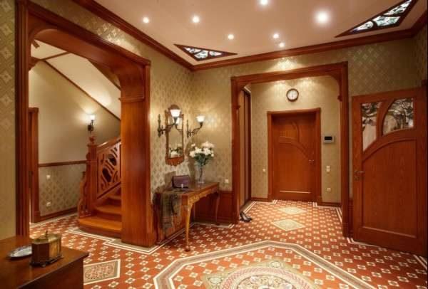 стильный потолок в английском стиле