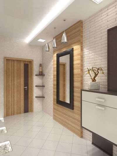 деревянные панели в прихожей в квартире
