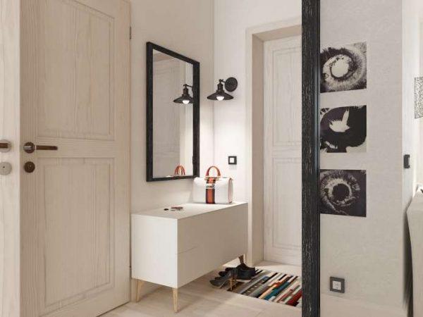 зеркало в прихожей в скандинавском стиле