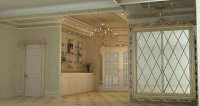 светлый интерьер в прихожей в стиле барокко