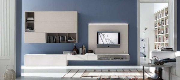 Шкаф в гостиную в современном стиле хай тек