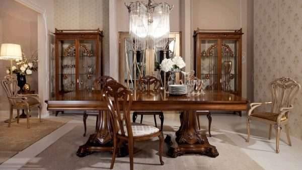 массивный шкаф из дерева в гостиной в современном стиле