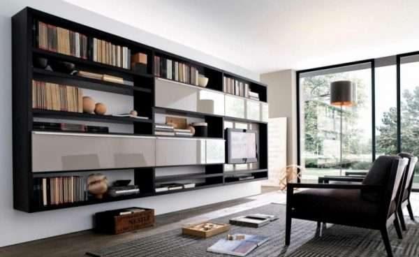 Шкаф подвесной в гостиную в современном стиле