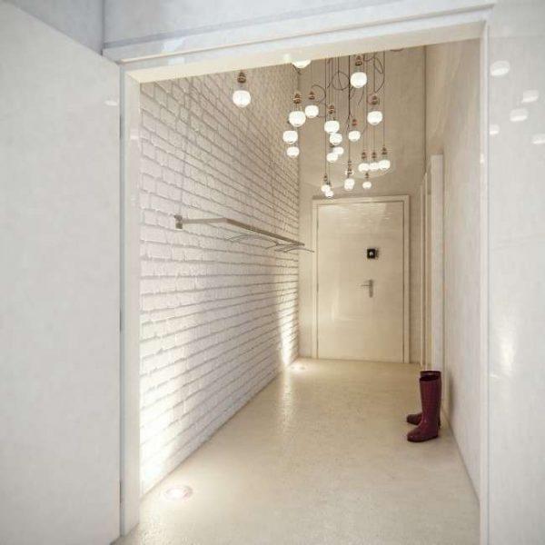 освещение в интерьере прихожей в квартире