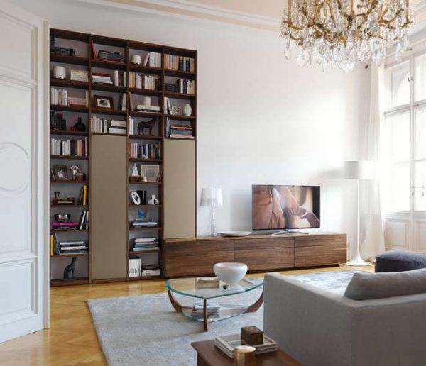 МДФ для фасадов стенки под телевизор в гостиную