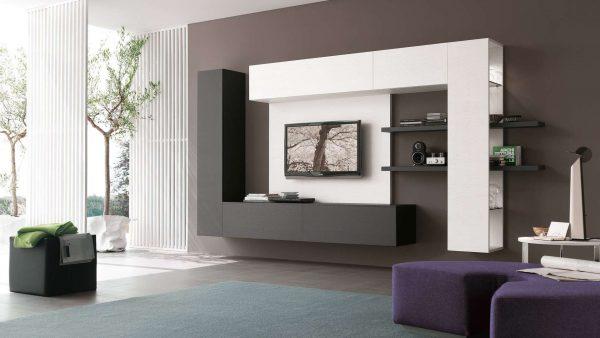 стенка хай тек под телевизор в гостиную