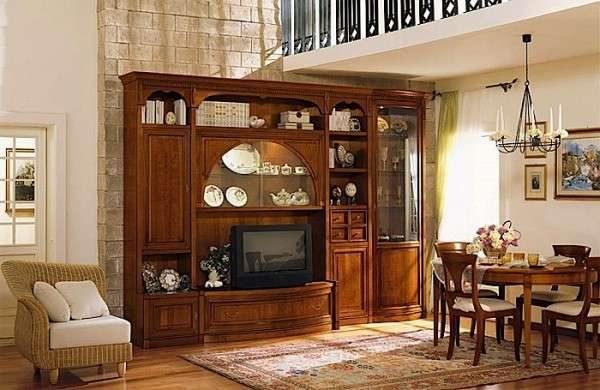 стенка под телевизор в гостиную в классическом стиле