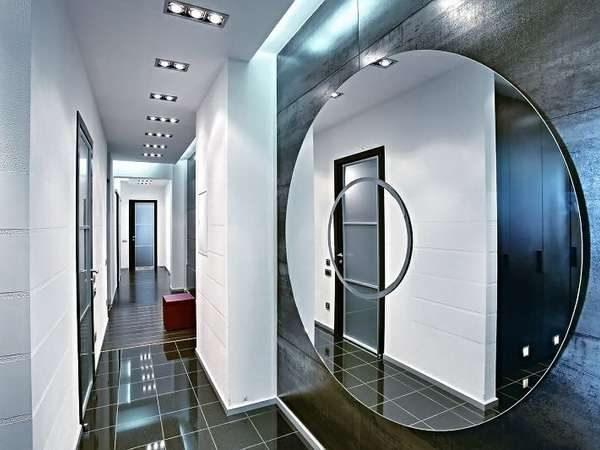 зеркало в стиле модерн для гостиной