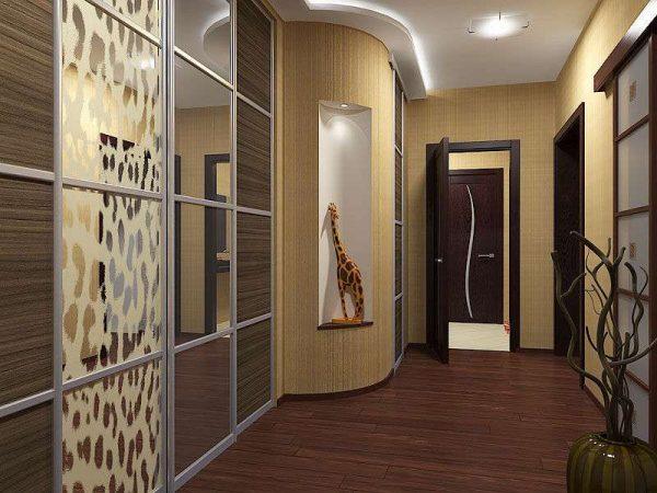 африканский стиль в коридоре панельного дома