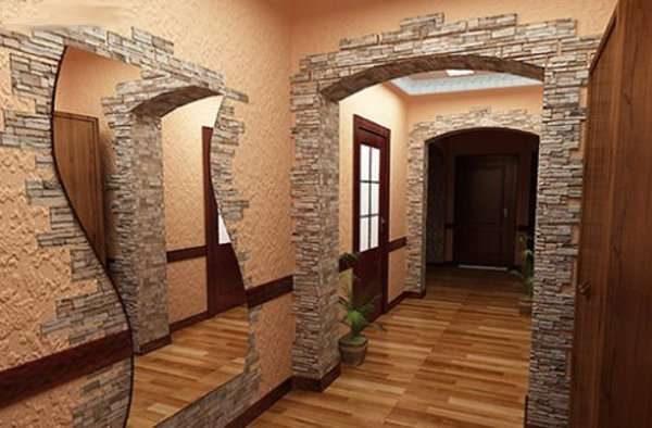 арка в коридоре панельного дома