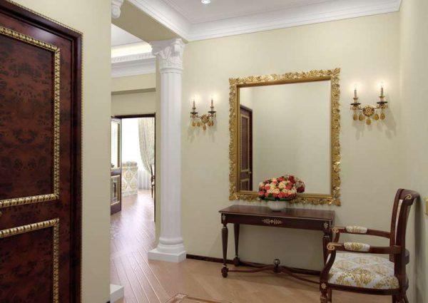 колоны в коридоре в панельном доме